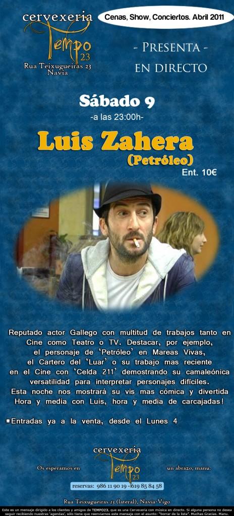 Luis Zahera Petróleo en tempo 23