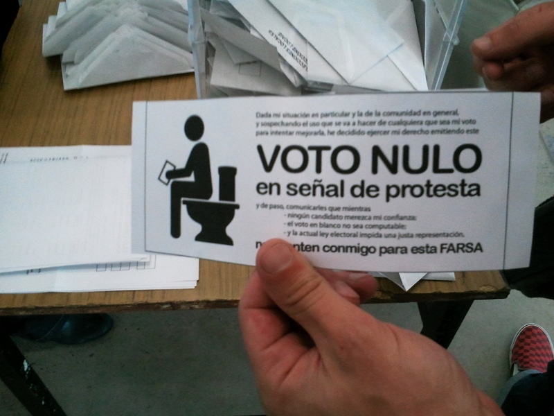Voto Nulo en la Mesa U