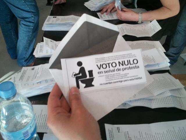 Voto Nulo en Mesa A