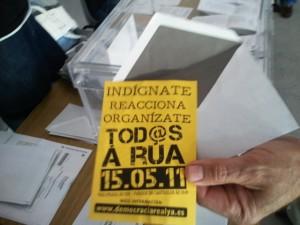 Voto Nulo con papeleta 15M