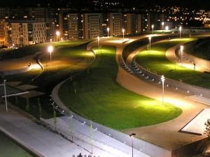 Parque de Navia. Foto Nocturna.