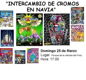 Cartel Intercambio de Cromos 25/3/12