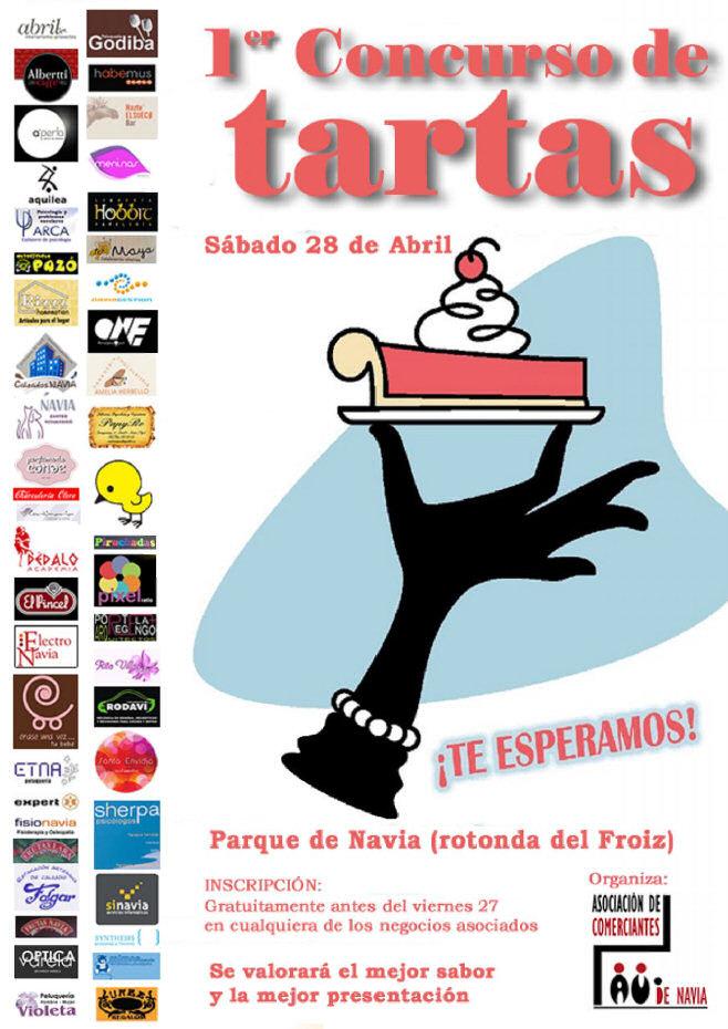 Cartel I Concurso de Tartas de la Asociación de Comerciantes de Navia