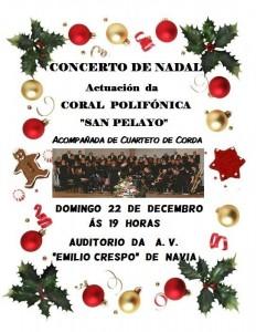Cartel Concierto Nadal Coral 22/12/2013