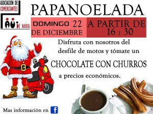 Cartel Papanoelada Comerciantes 22/12/2013