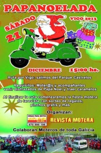 Cartel IV Papanoelada Motera Vigo 21/12/2013
