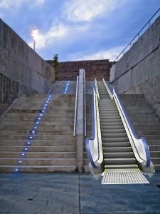 Infografía Escaleras parque