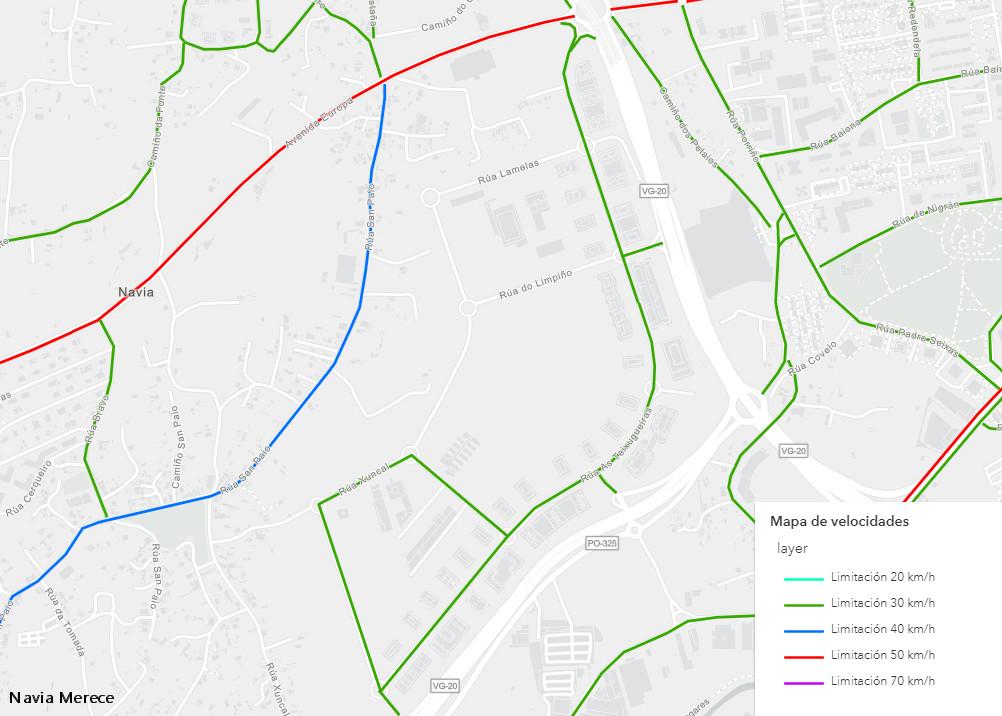 Mapa Velocidades Concello Vigo - Navia Mayo-2021