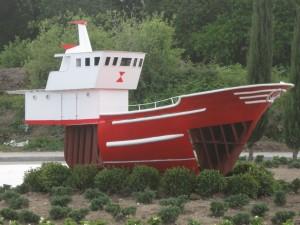 Vista lateral del barco